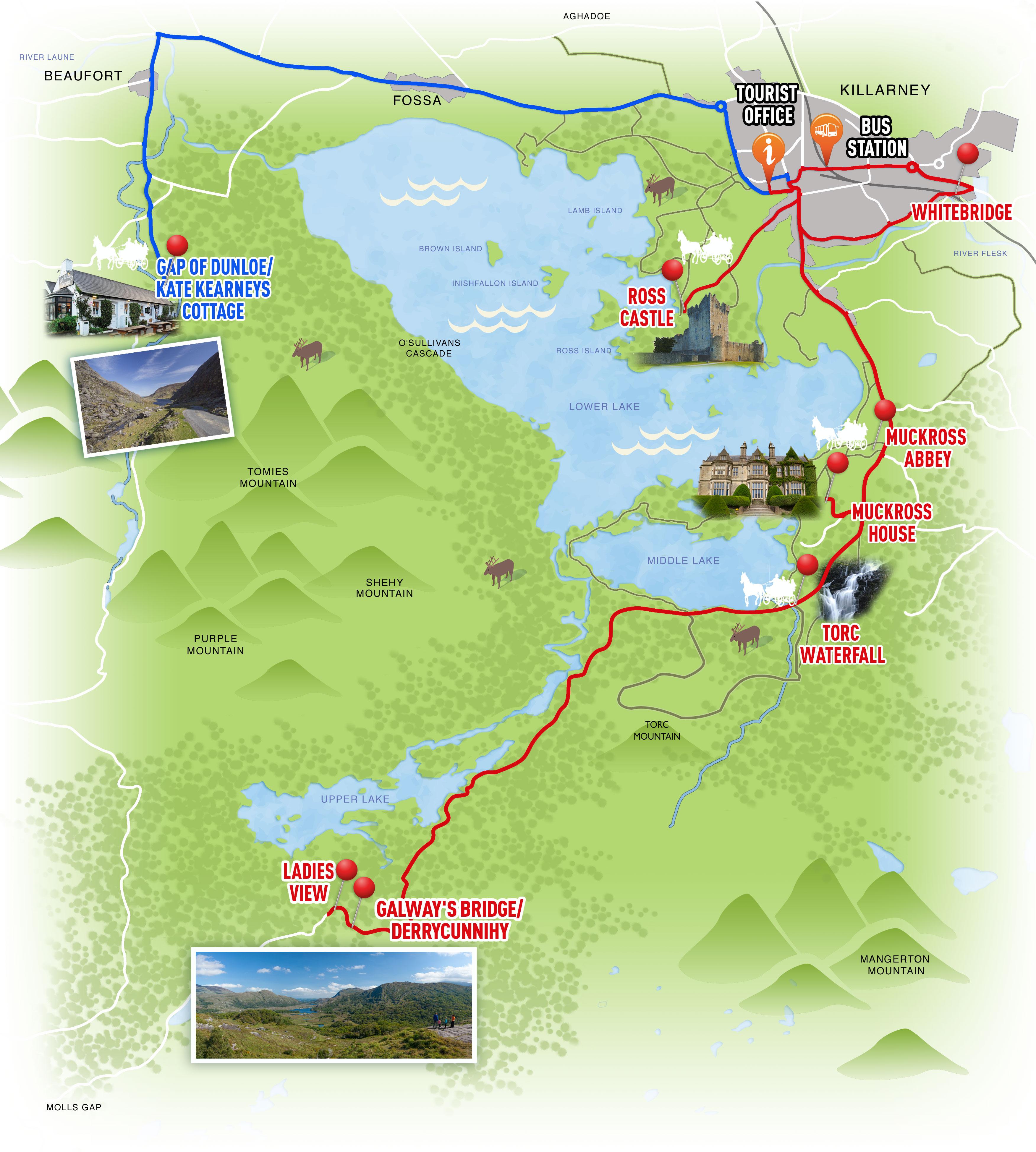 Route Map Killarney Shuttle Bus - Us bus routes map